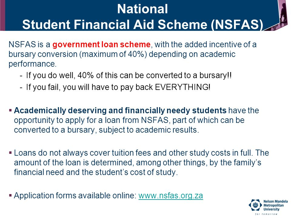 School Of Accounting And NMMU Administered Bursaries Ppt