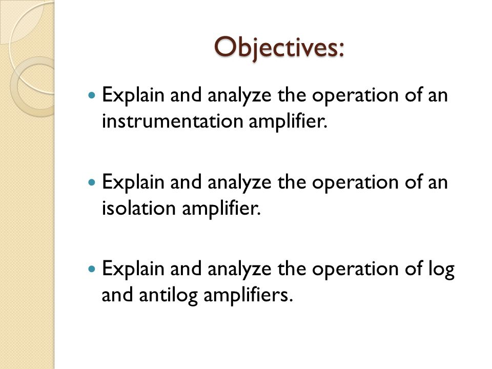CHAPTER 3: SPECIAL PURPOSE OP-AMP CIRCUITS - ppt video