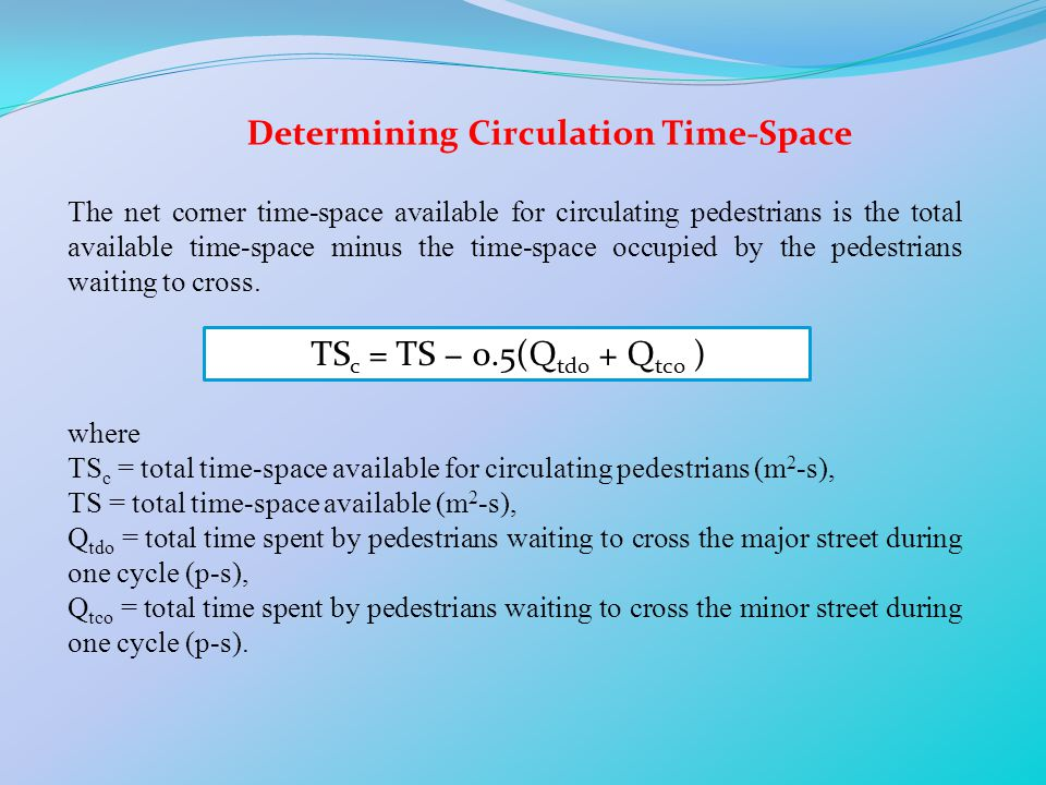 Determining Circulation Time-Space