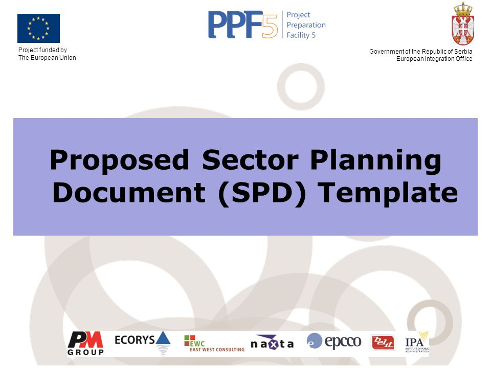 Proposed Sector Planning Document (SPD) Template