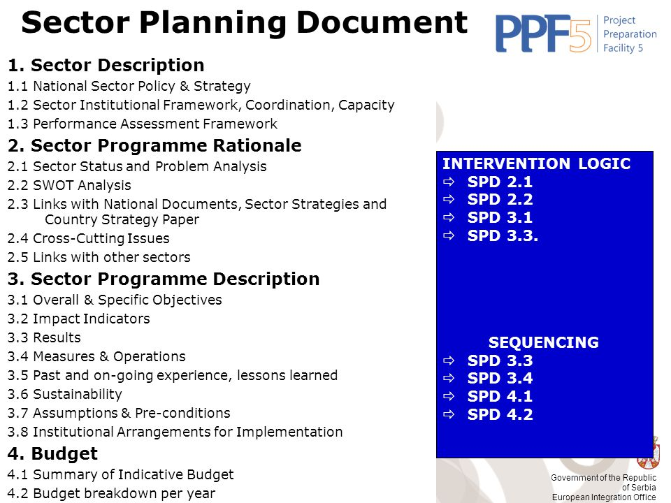 Sector Planning Document