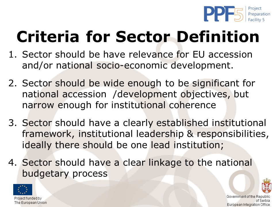 Criteria for Sector Definition