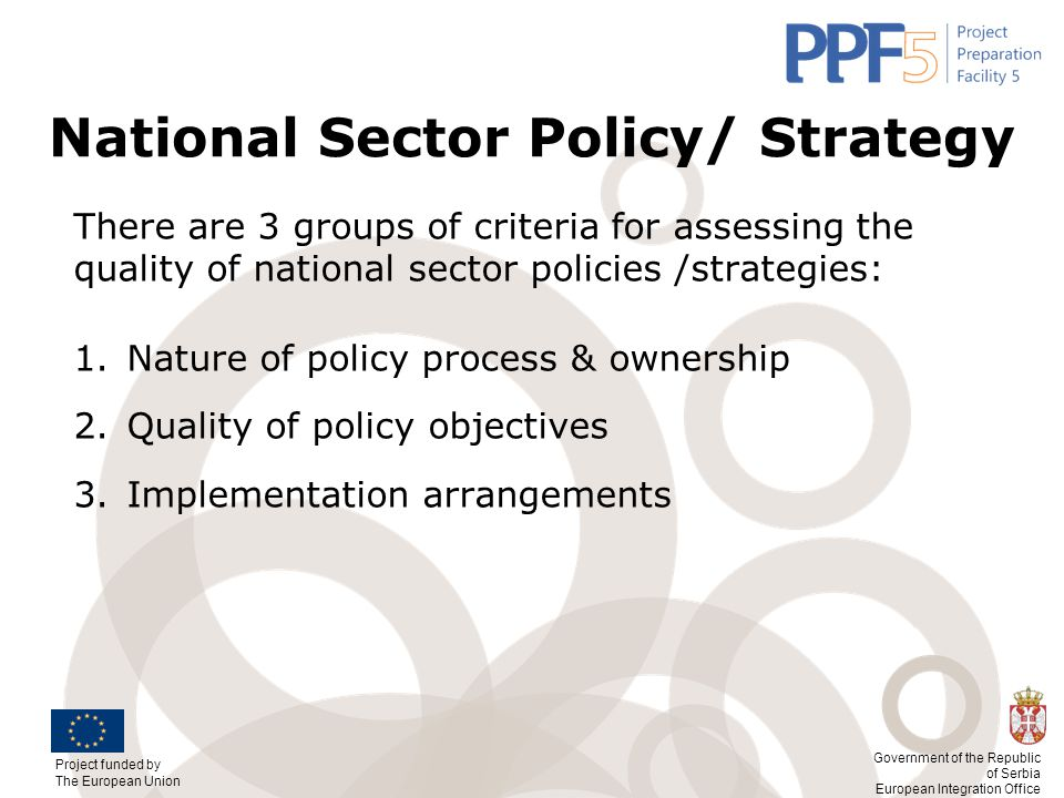 National Sector Policy/ Strategy