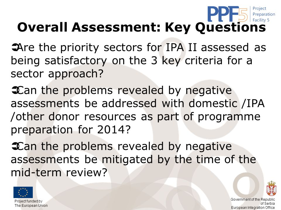 Overall Assessment: Key Questions