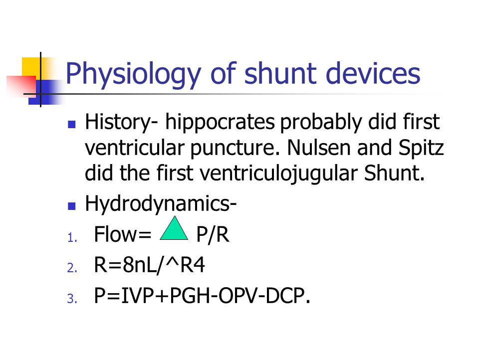 Physiology of shunt devices