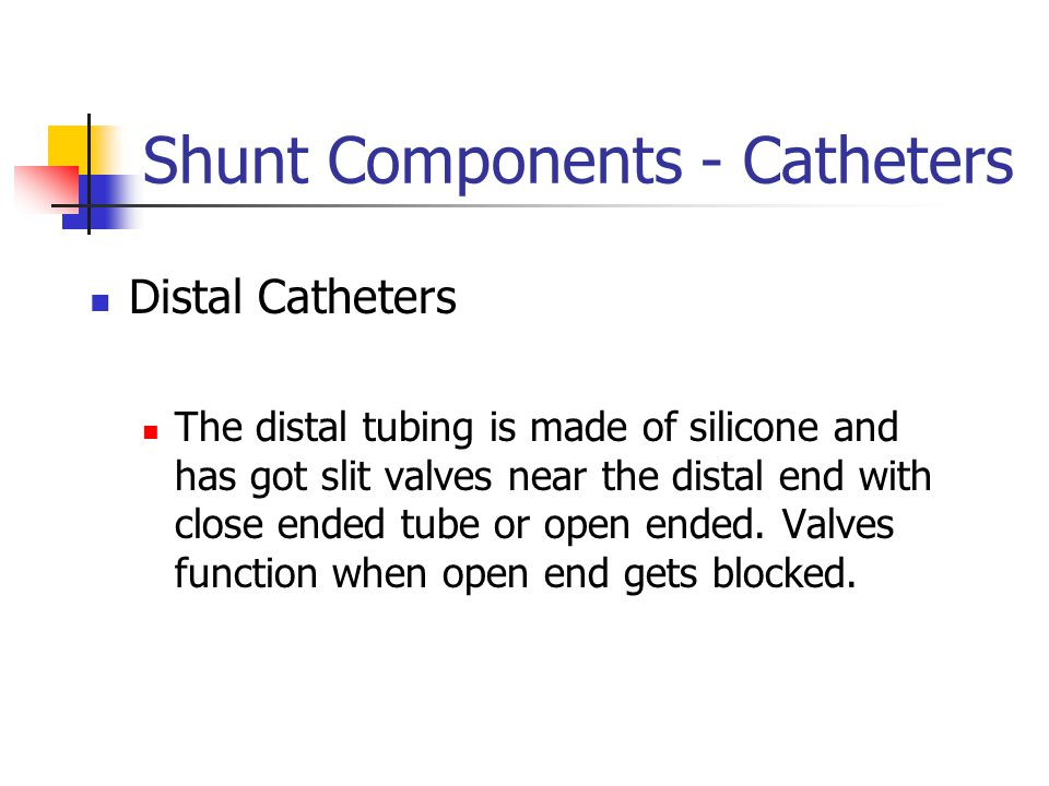 Shunt Components - Catheters