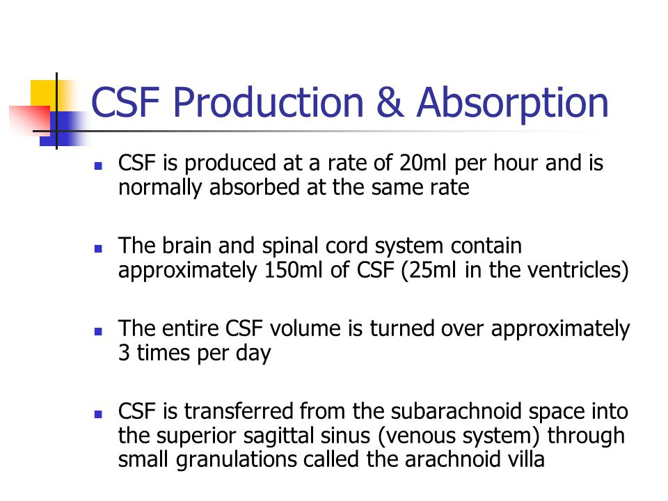 CSF Production & Absorption