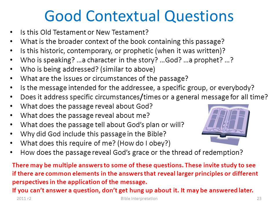 Good Contextual Questions