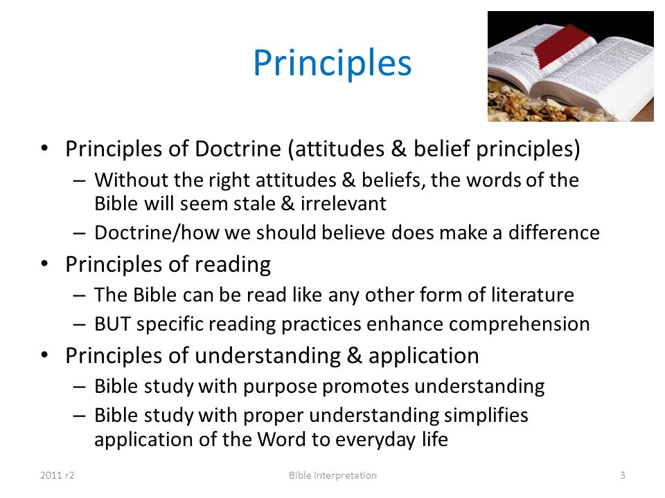 Principles Principles of Doctrine (attitudes & belief principles)