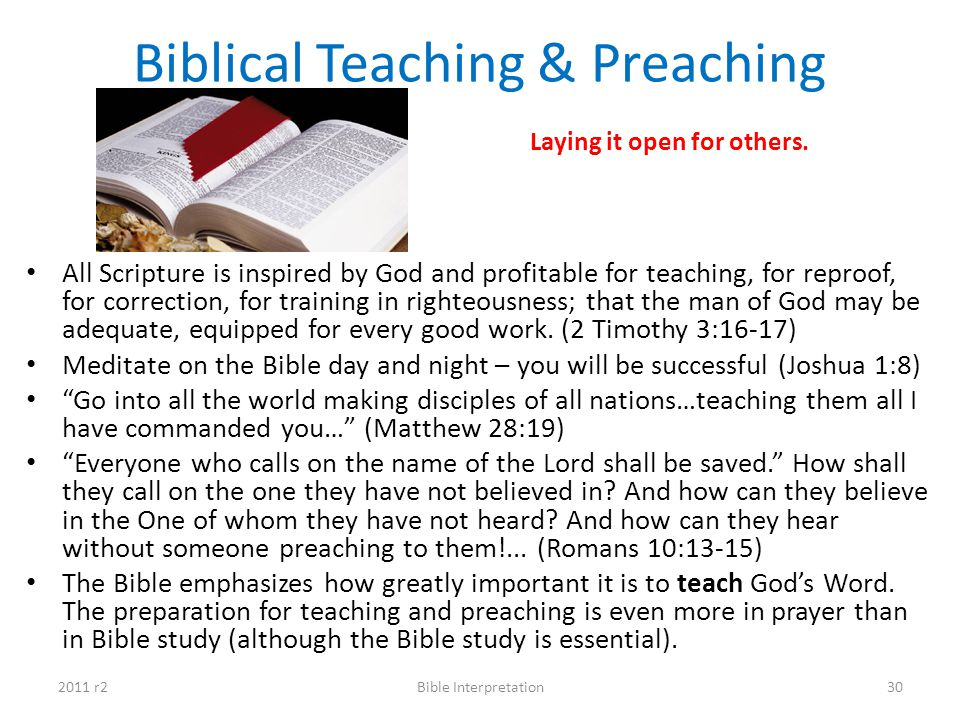 Biblical Teaching & Preaching