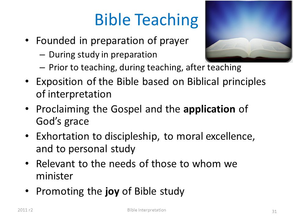 Bible Teaching Founded in preparation of prayer