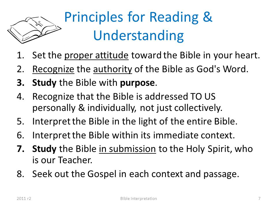 Principles for Reading & Understanding