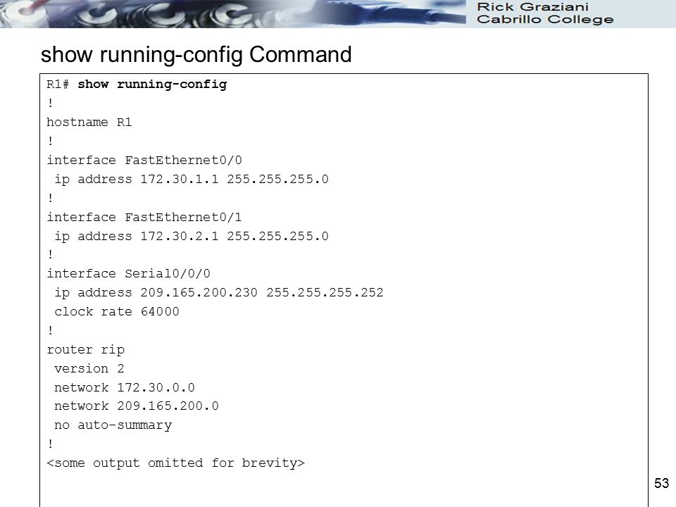 show running-config Command
