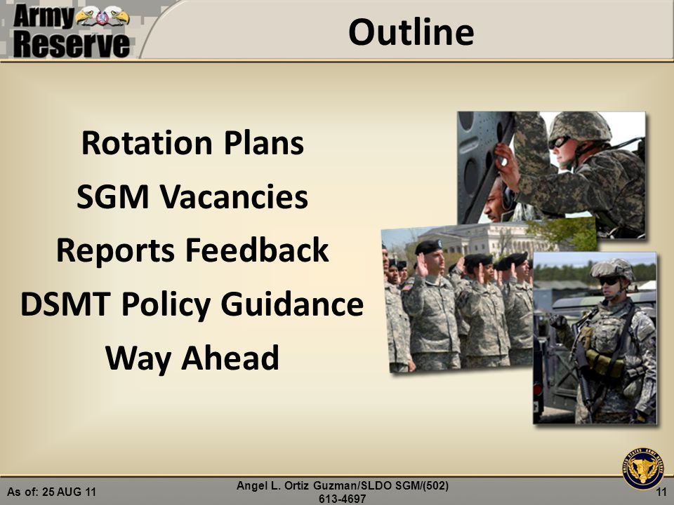 USARC Commander's Call Command Sergeant Major - ppt download