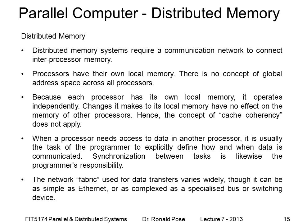 Parallel Computer - Distributed Memory
