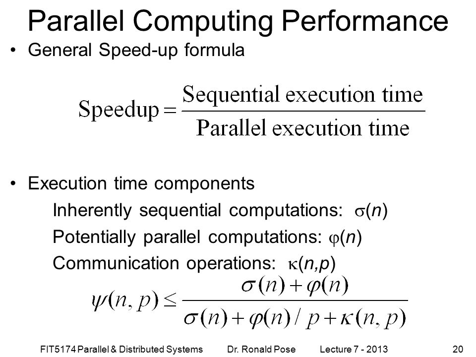 Parallel Computing Performance