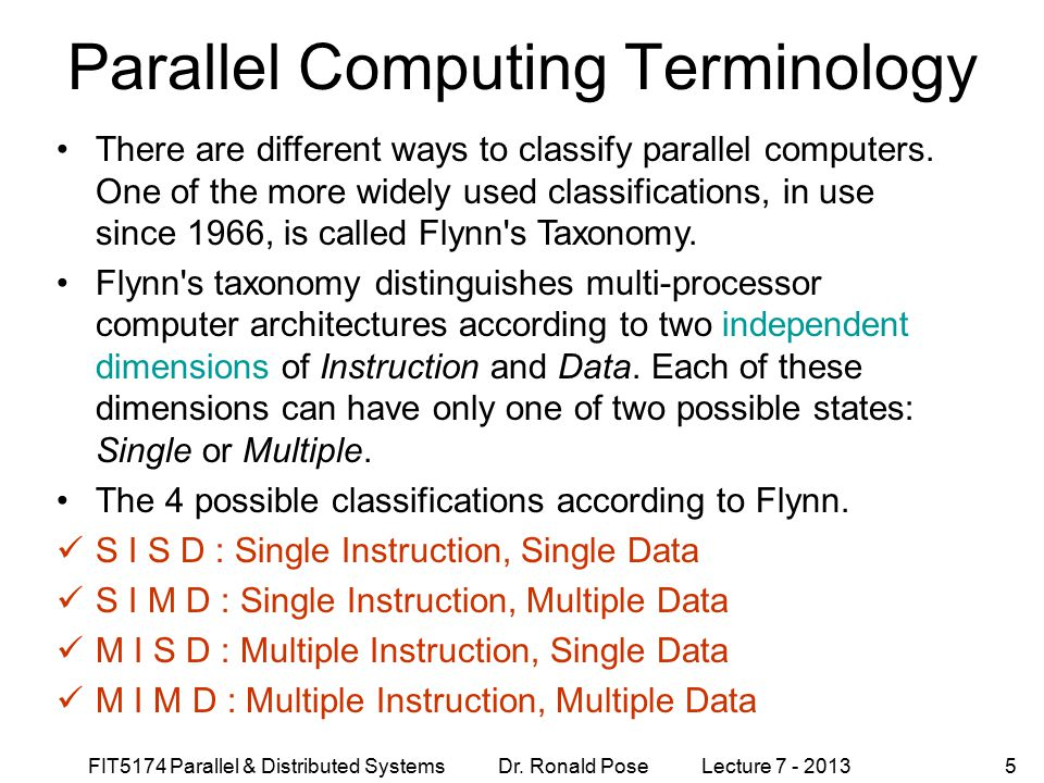 Parallel Computing Terminology