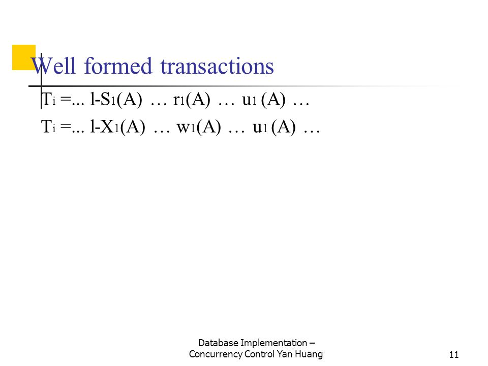 Well formed transactions