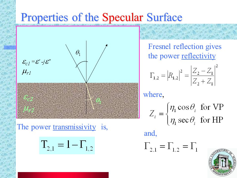 Properties of the Specular Surface