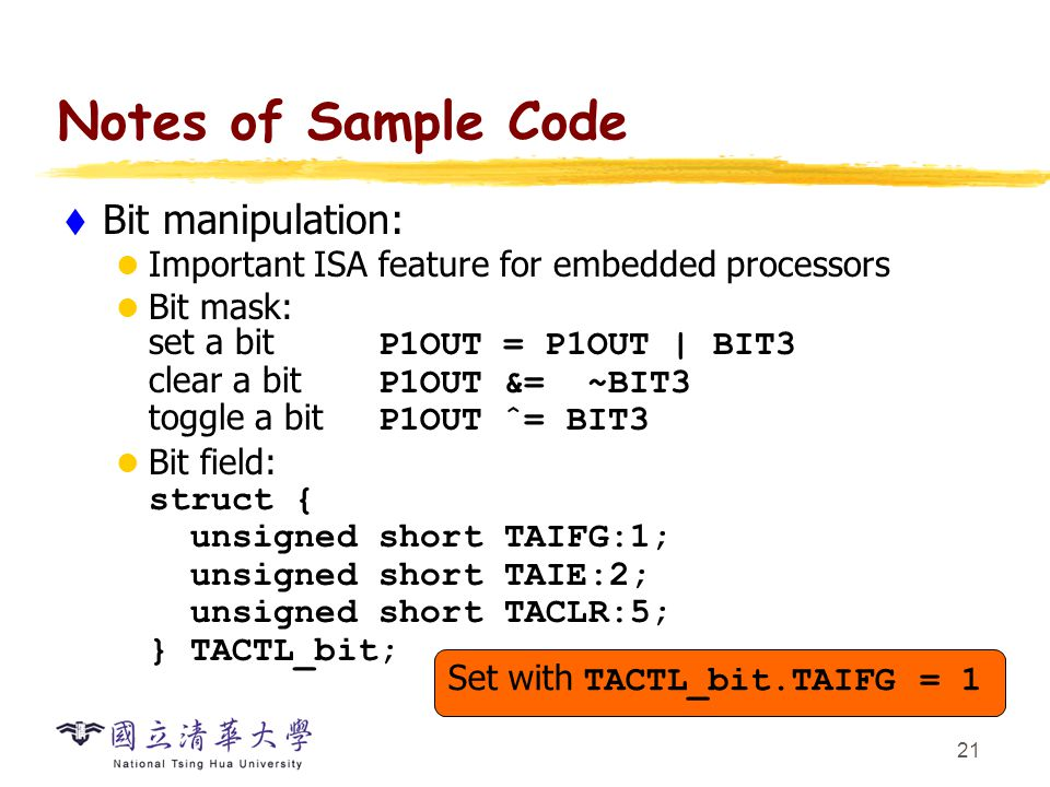 Other Aspects of Embedded C