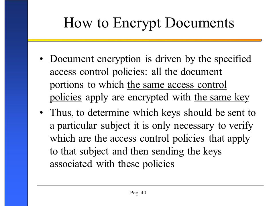 How to Encrypt Documents