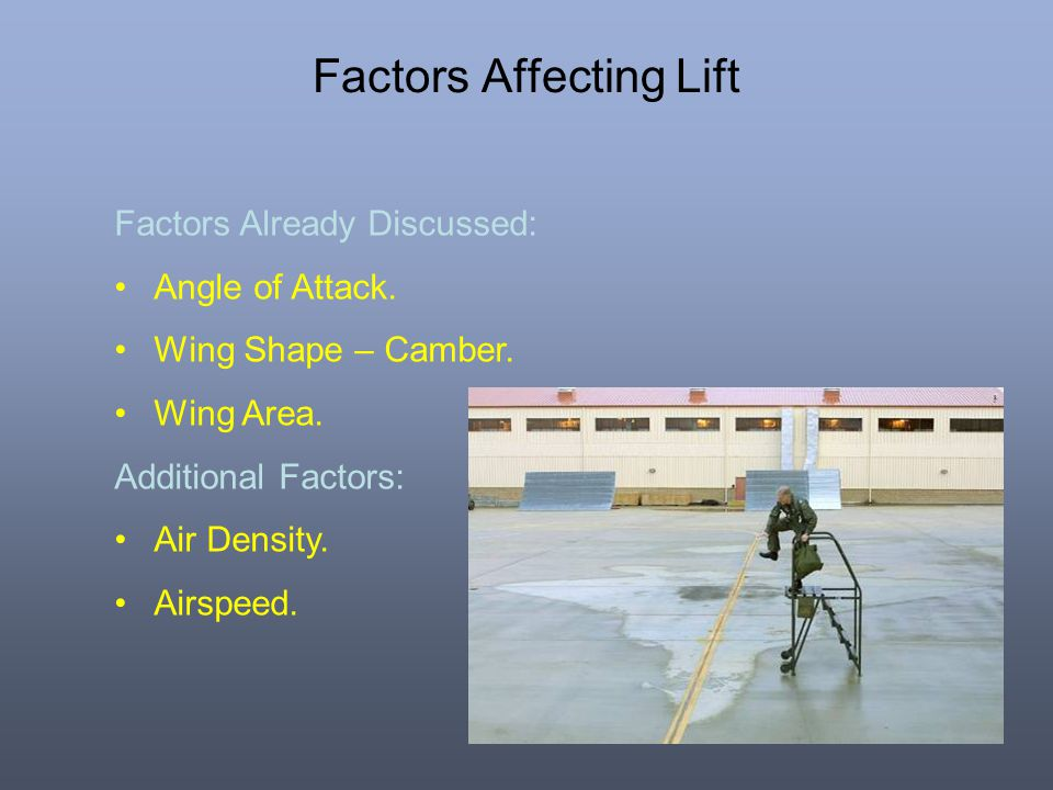 Factors Affecting Lift
