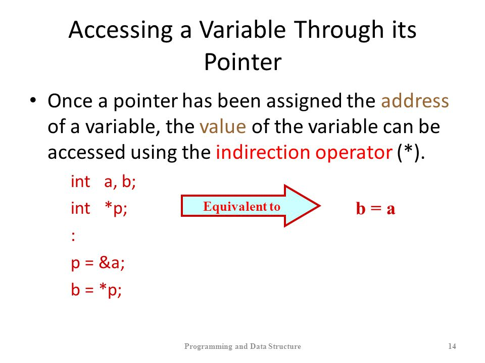 Accessing a Variable Through its Pointer