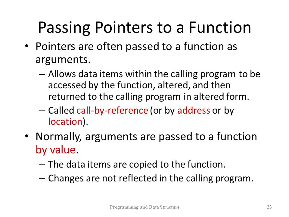 Passing Pointers to a Function