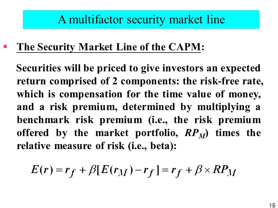 A multifactor security market line