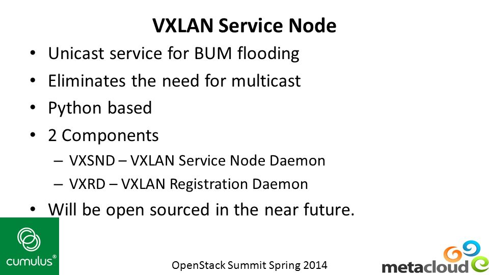 VXLAN Service Node Unicast service for BUM flooding
