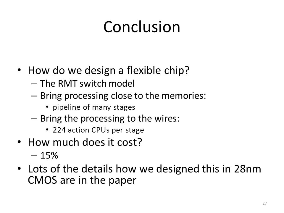 Conclusion How do we design a flexible chip How much does it cost