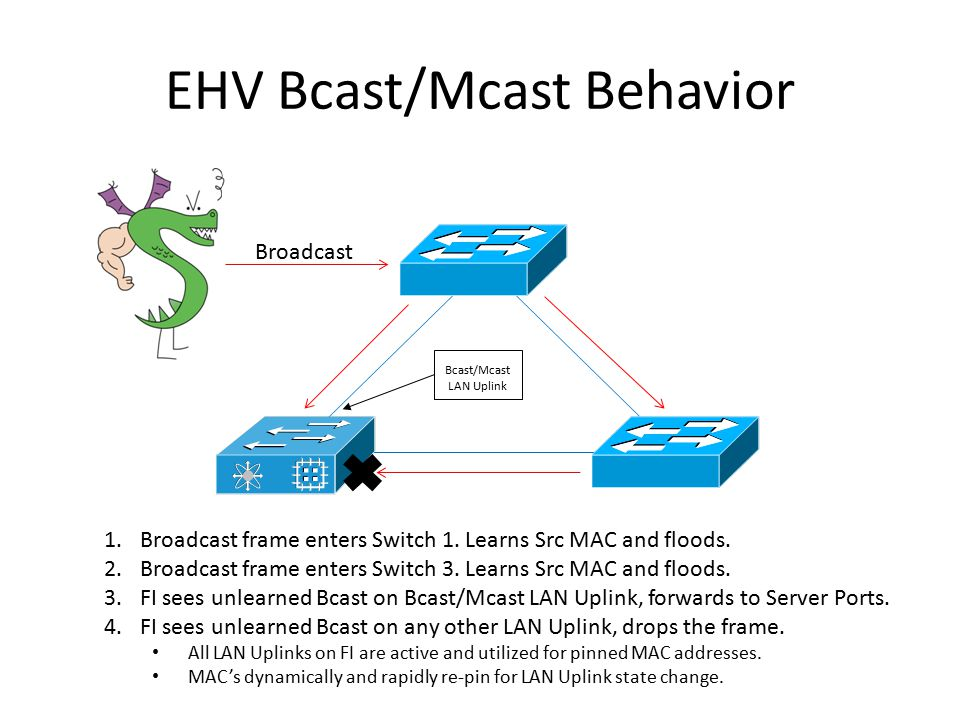 EHV Bcast/Mcast Behavior