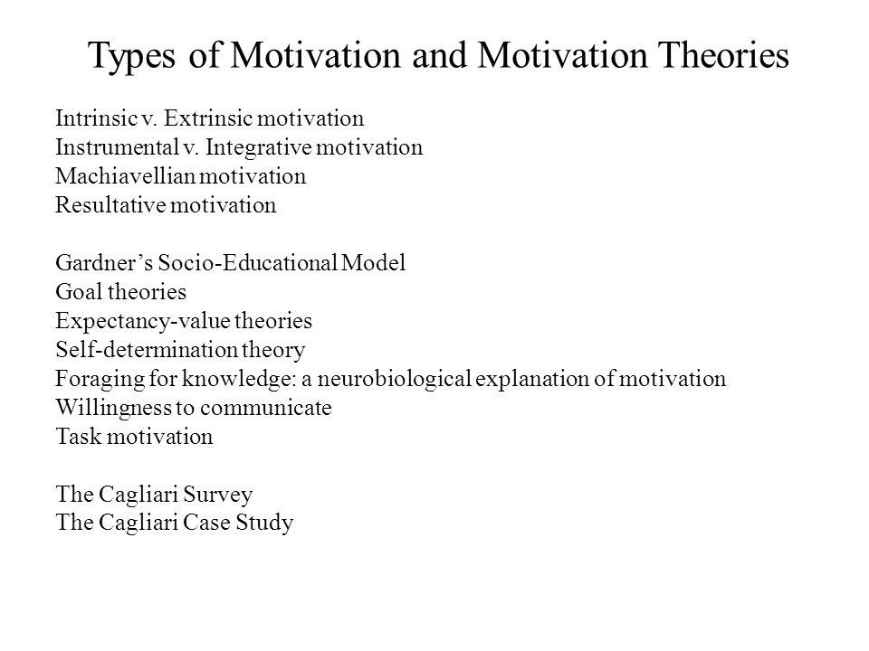 Types of Motivation and Motivation Theories
