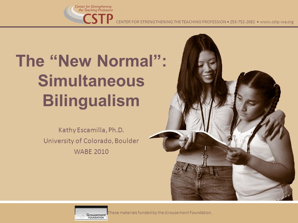 The New Normal : Simultaneous Bilingualism