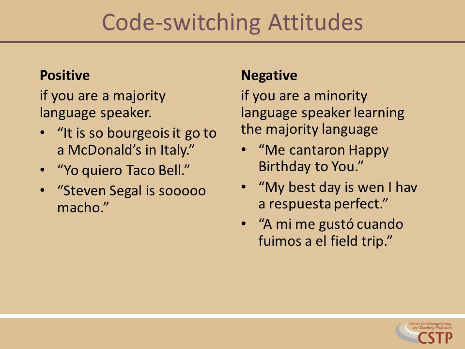 Code-switching Attitudes