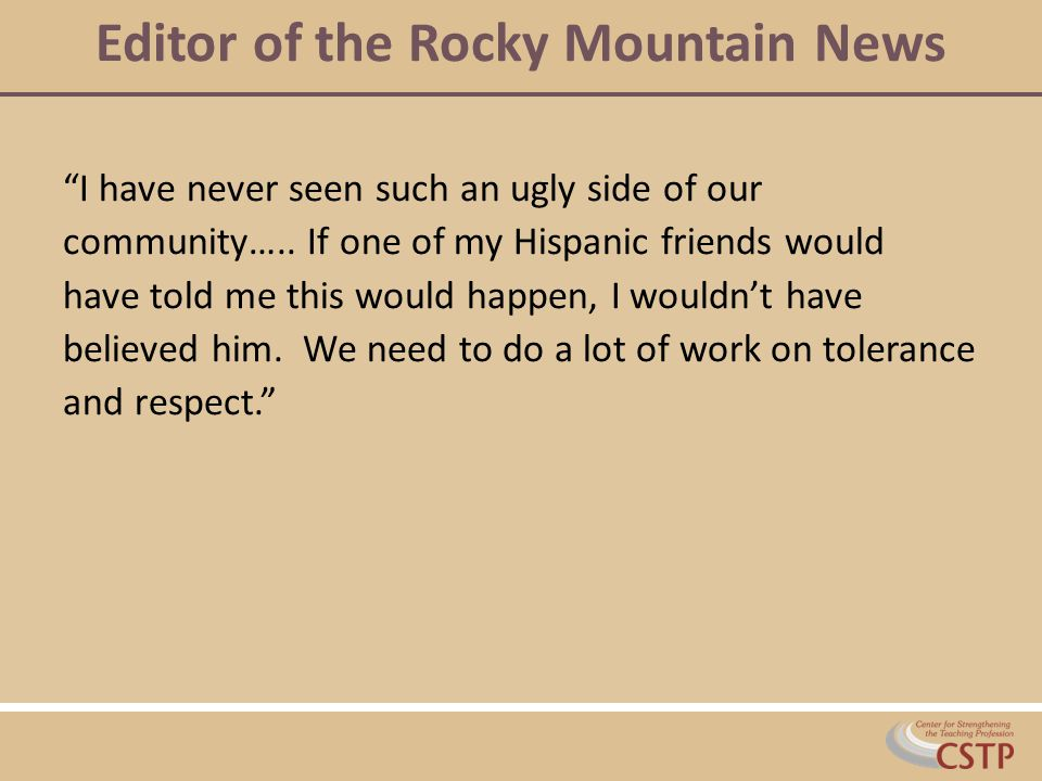 Editor of the Rocky Mountain News
