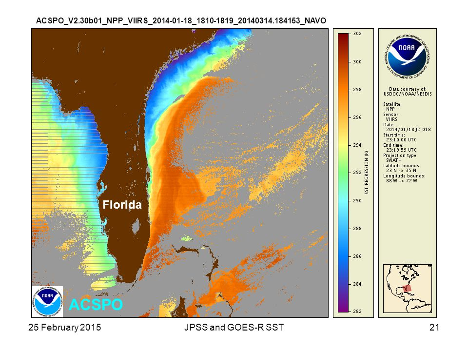 ACSPO Florida 25 February 2015 JPSS and GOES-R SST