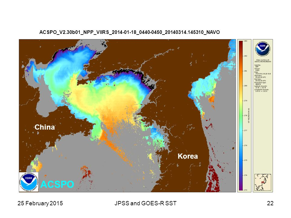 ACSPO China Korea 25 February 2015 JPSS and GOES-R SST