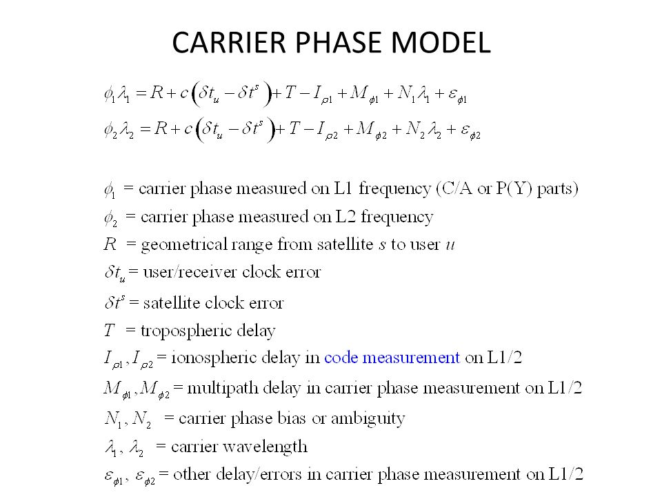 CARRIER PHASE MODEL