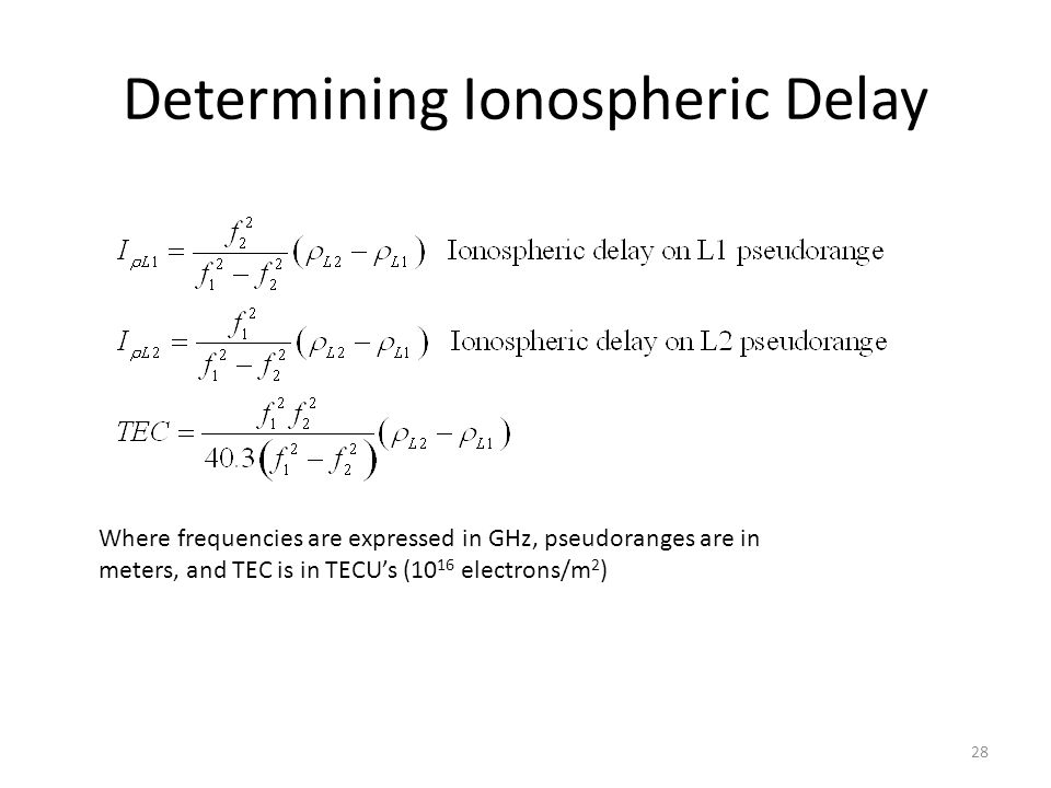 Determining Ionospheric Delay