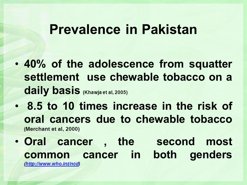 Prevalence in Pakistan