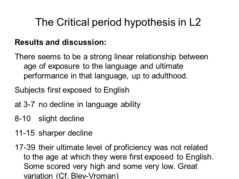 critical period hypothesis chomsky