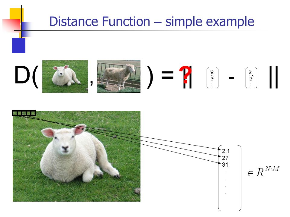 Distance Function – simple example