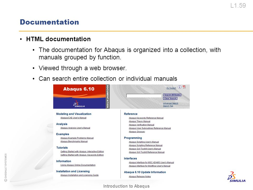 Documentation HTML documentation