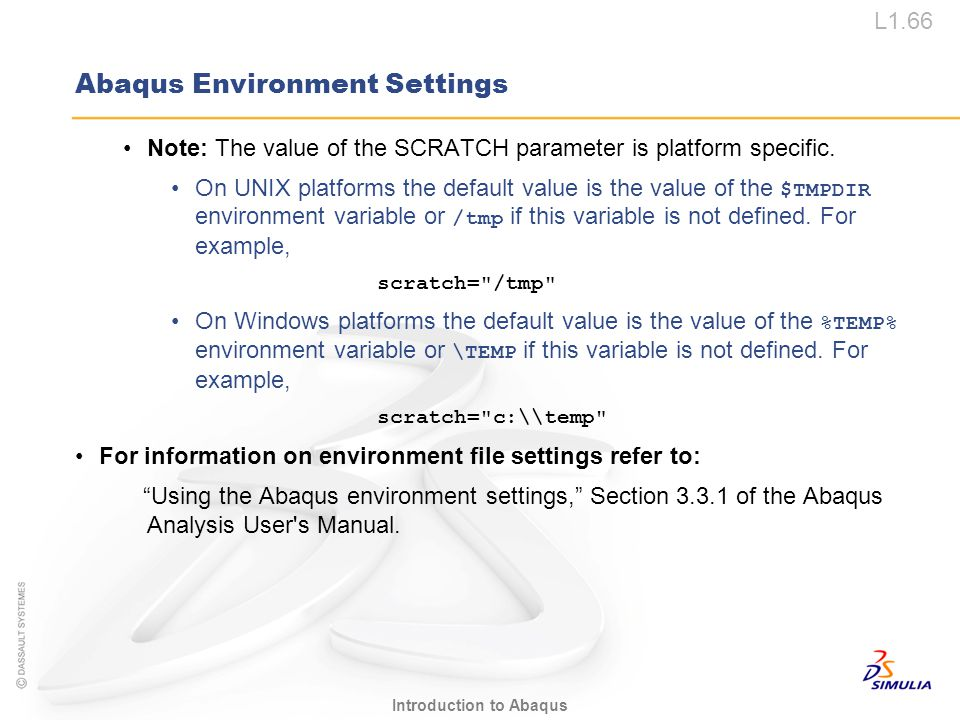Abaqus Environment Settings