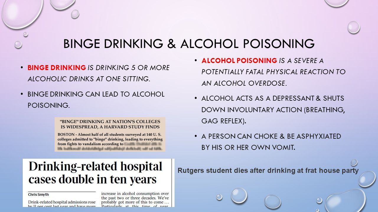 Binge drinking & alcohol poisoning