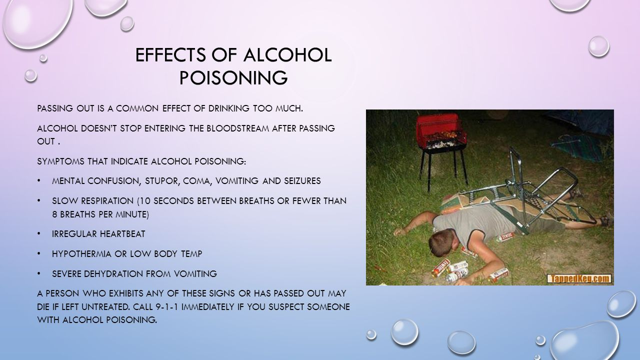 Effects of alcohol poisoning