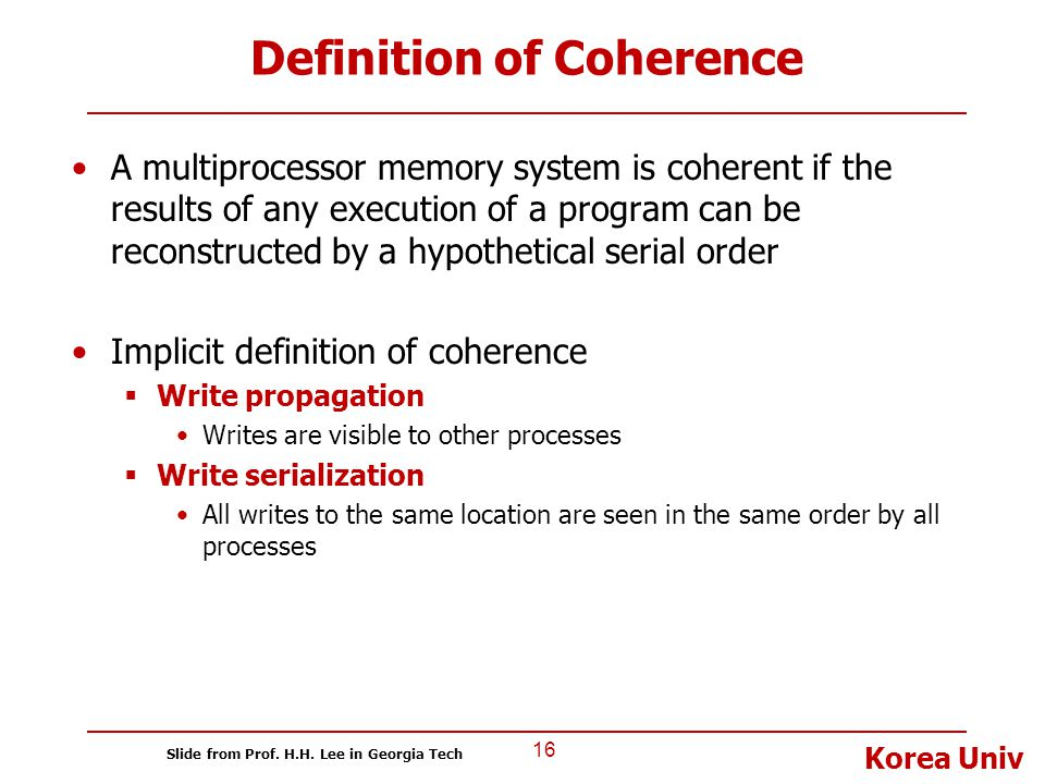 Definition of Coherence