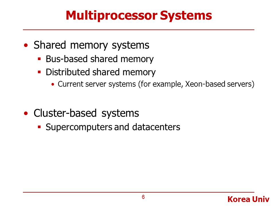 Multiprocessor Systems