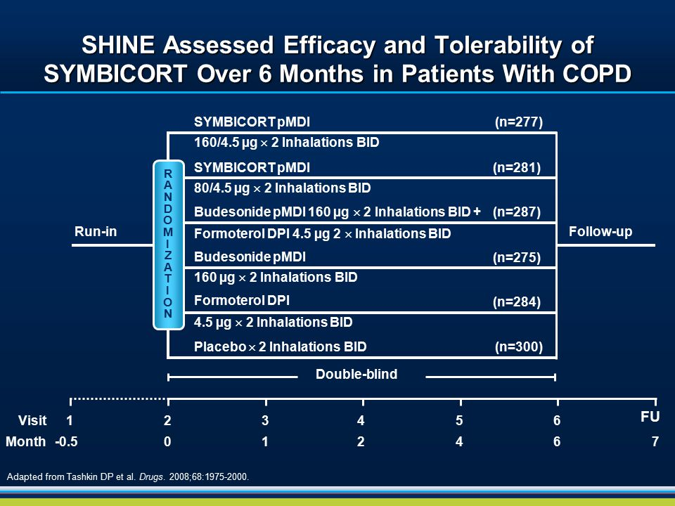 SHINE Assessed Efficacy and Tolerability of SYMBICORT Over 6 Months in Patients With COPD